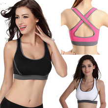 Summer Sport Top Fitness Women Crop Top Short  Slim Vest Female Sports Bra With Padded Ladies Gym Bralette Strappy Bra Cropped(China (Mainland))