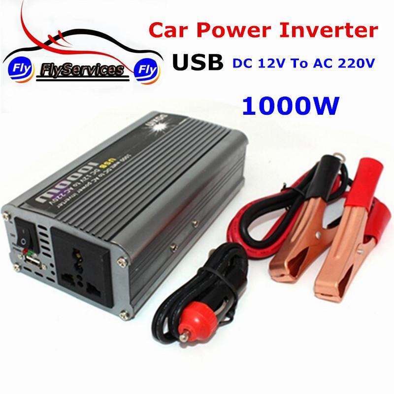 Doxin 1000w Watt Dc to Ac Power Inverter USB DC 12v to Ac 220v Car Inverter Emergency Power Supply Converter(China (Mainland))