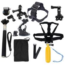 GoPro Accessories 13 In 1 Family Kit Go Pro SJ4000 SJ5000 SJ6000 Accessories Set Package For GoPro HD Hero 1 2 3 3+ 4 Xiaomi Yi
