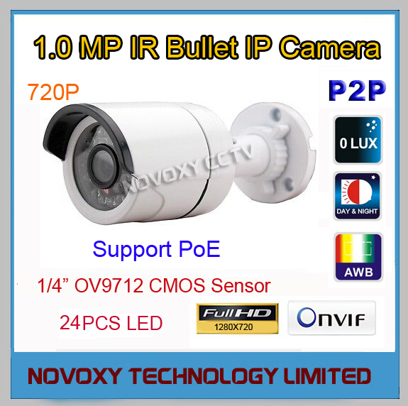 Free Shipping 1.0MP 720P PoE  HD IP IR Camera Outdoor Weatherproof Infrared Night Vision IR Bullet Box Camera<br><br>Aliexpress