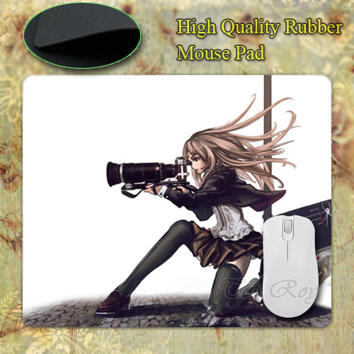 New Anti-Slip PC Speed Grapher Tennouzu Kagura Anime Cameras Long Hair Rubber Mouse Mat 220mmX180mmx2mm Pad Mice Mat for Optical(China (Mainland))