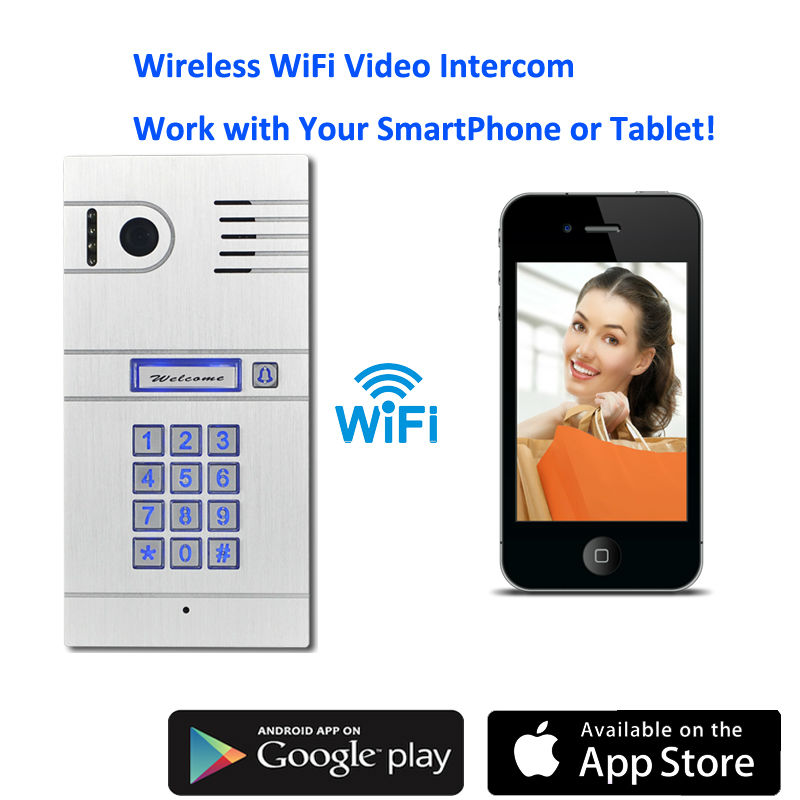 WiFi Wireless Video Door Phone System Wireless Control IP Camera Video Intercom Remote Control Smart Doorbell via Smartphones(China (Mainland))