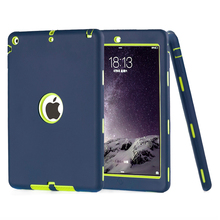 Case For iPad Air 1 Kids Safe Armor Shockproof Heavy Duty 3in1 Hybrid Rugged Silicone Hard Case Cover For Apple iPad 5 w/Stylus(China (Mainland))