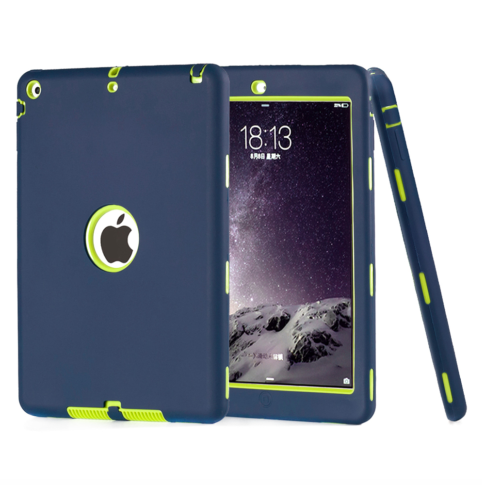 Case For iPad Air 1 Kids Safe Armor Shockproof Heavy Duty 3 in 1 Hybrid Rugged Slicone Hard Case Cover For Apple iPad 5 w/Stylus(China (Mainland))