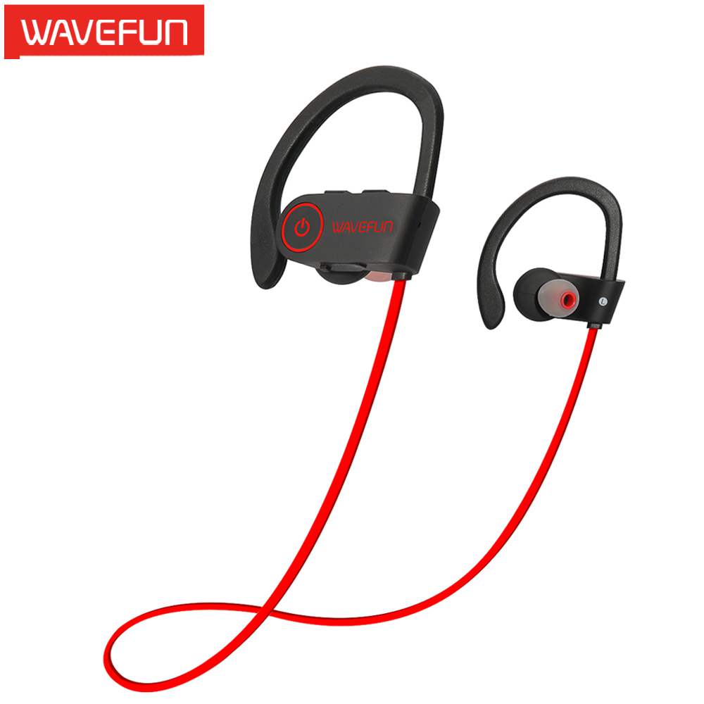Wavefun X-Buds wireless bluetooth headphones IPX7 waterproof stereo with bass sport earphone ergonomic design with Mic earbuds(China (Mainland))