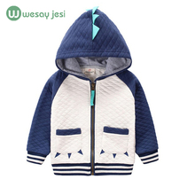 2016 children's clothing boys girls Dinosaur Hoodie cotton cartoon  Winter kids coats Jacket boys hoodies and sweatshirts(China (Mainland))