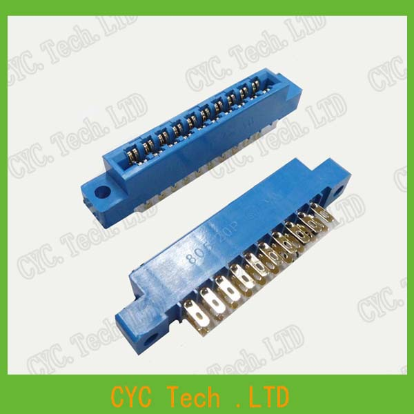 10pcs/Lot 805 Card Edge Connector 3.96mm Pitch 2x10 Row 20 Pin PCB Slot Solder Socket SP20 Dip Wire Solder Type(China (Mainland))