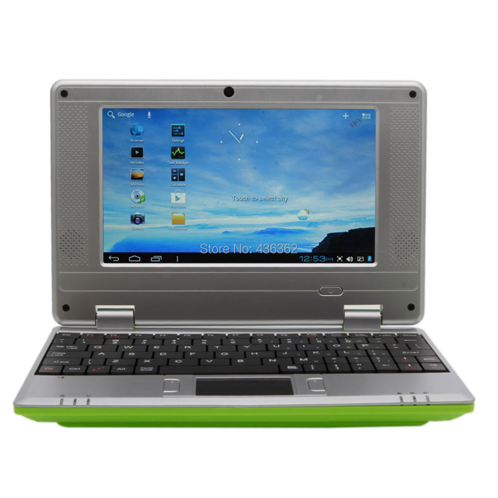 "Green 7"" VIA8850 512MB / 4GB Android 4.1 or Windows CE Notebook Mini Netbook 1.5GHZ Wifi HDMI RJ45 Black(China (Mainland))"