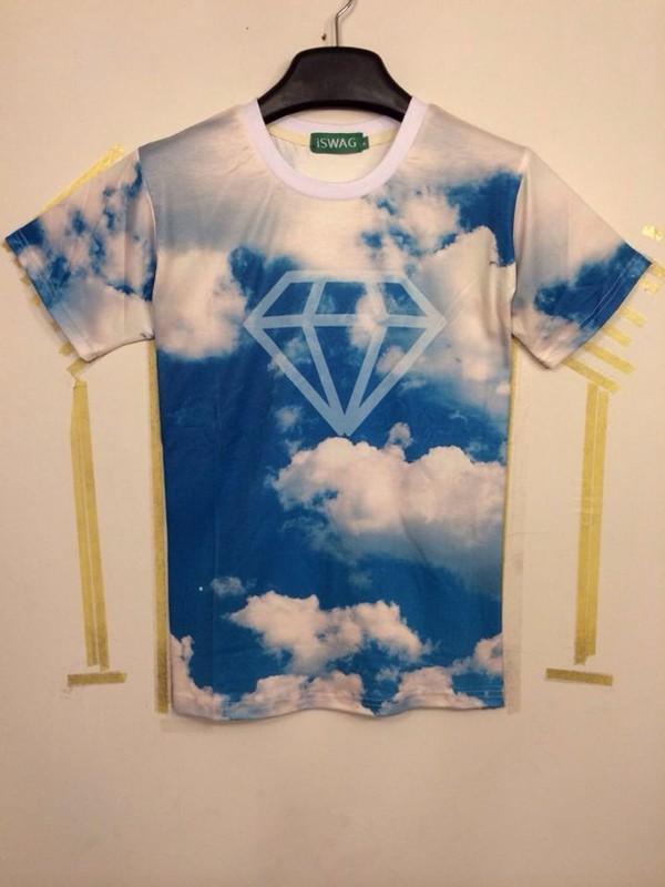 Free shipping europe fashion men s 3d t shirt printed blue for 6 dollar shirts coupon code free shipping