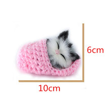 Super Cute Simulation Sounding Shoe Kittens Cats Plush Toys Kids Appease Doll Christmas Birthday Gifts(China (Mainland))