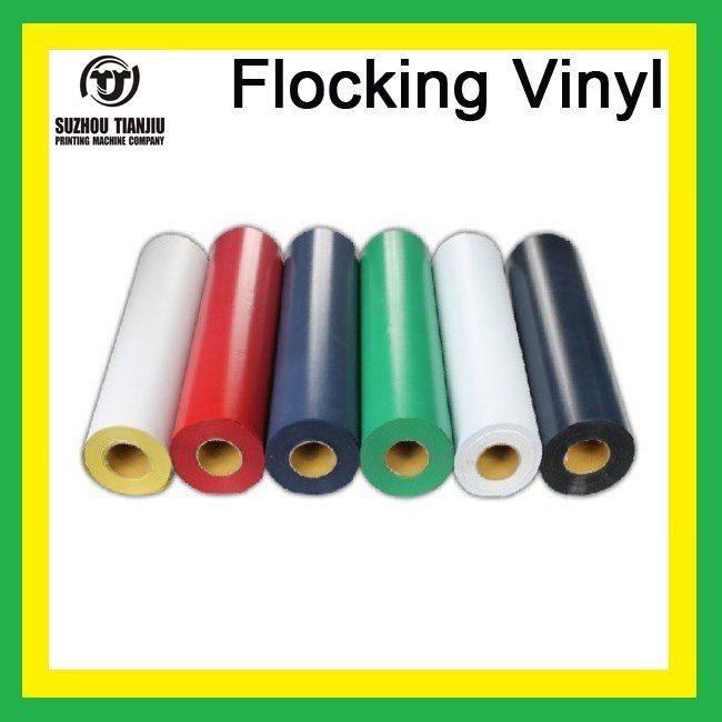 TJ Hight-Quality Flocking heat transfer vinyl,heat transfer flocking vinyl 6 colors(China (Mainland))