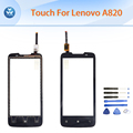 Touch panel for Lenovo A820 touch screen digitizer front outer sensor glass replacement repair tools black