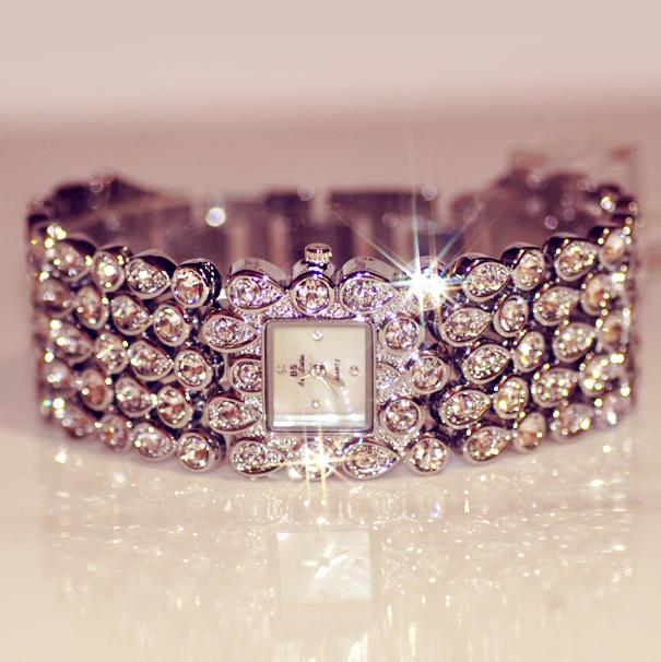 Гаджет  2014 New Arrial Fashion Women Rhinestone Watches Diamond Austria Crystal Ladies Dress Watch  Female Wedding Jewelry Bangles  None Часы