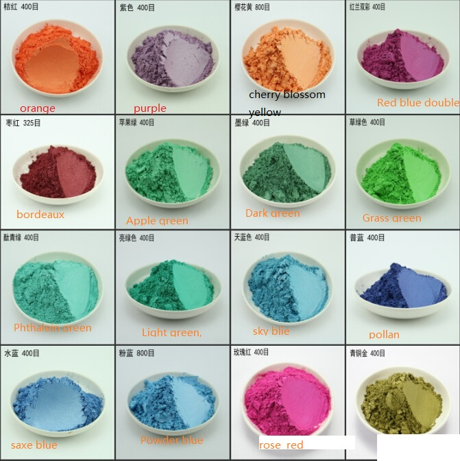 100g 16 colors pearl pigment,mica powder, Color pearl powder Metallic paint flash powder 1lot=1 color=100G(Please note color)(China (Mainland))