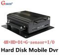 DHL EMS Free Shipping Car DVR 4CH H 264 Play Back D1 Hard Disk Mobile DVRS