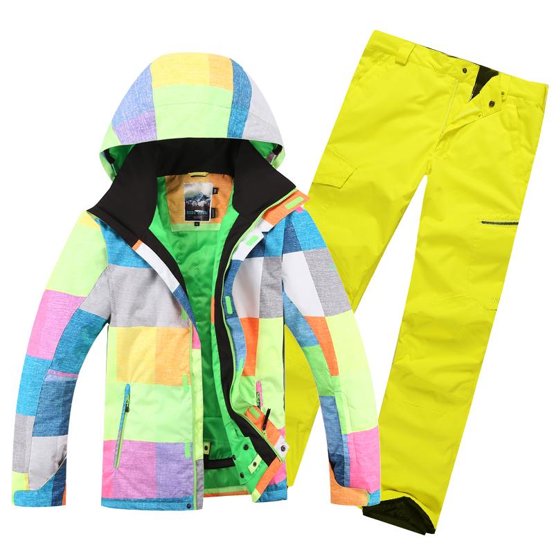 Free shipping 2015 men ski suit new Combination men ski jacket and men pants windproof waterproof ski wear Snowboard Outerwear(China (Mainland))