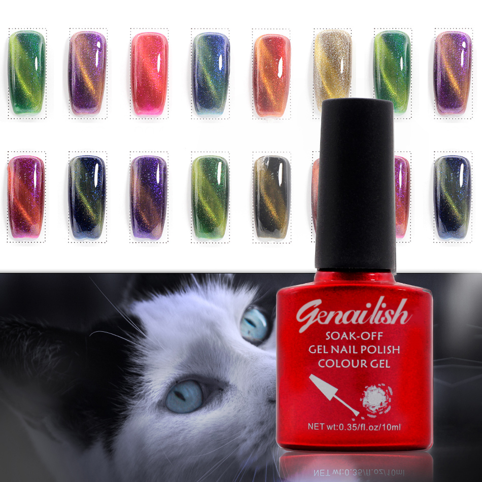 36 Colors Magnetic Cat Eye Gel Nail Gel Polish Long-lasting UV Fingernail Gel Soak-off LED UV Color Gel Varnish 10ML/PCS-NK(China (Mainland))