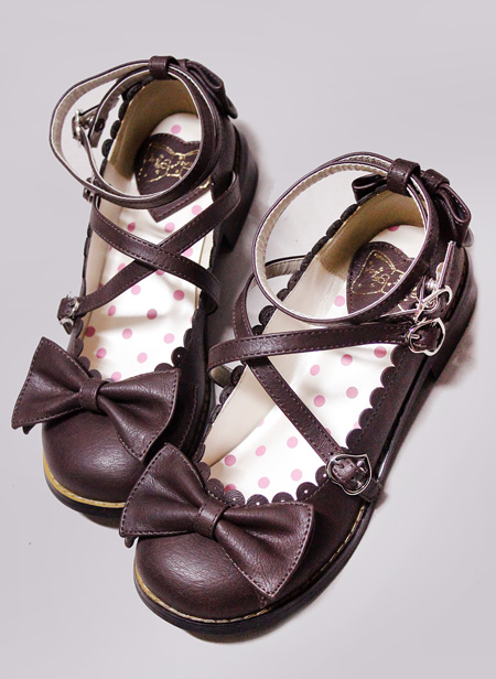 Гаджет  lovely vintage style Cute Bow Princess Tea party Sweet Lolita Shoes low Heel Shoes shoes None Обувь