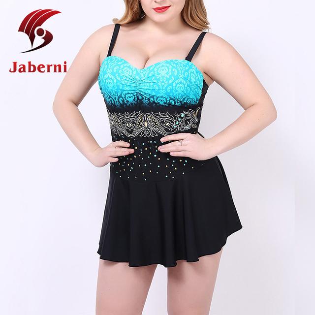 Большой размер боди XL-5XL элегантный цельный купальник платье сексуальная нижняя похудения женщины пляж купальники высокой талией Vestidos