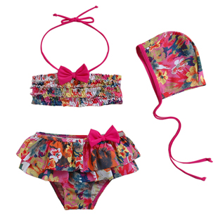 2015 child swimwear girls bikini split baby bathing suits