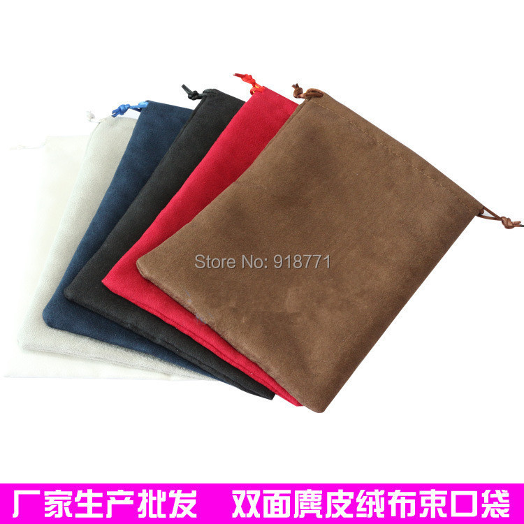 15*20cm Jewelry display Pouches double suede Velvet Bag Rings necklace Earrings Bracelets Bangle Gif USB MP3 4 phone Bags Holder(China (Mainland))