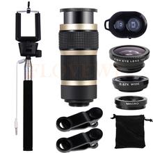 Buy Fisheye Wide Angle Macro Fish eye Lens iPhone 7 Plus Xiaomi Samsung Huawei 8X Zoom Telephoto Lentes 10in1 Mobile lenses for $15.77 in AliExpress store