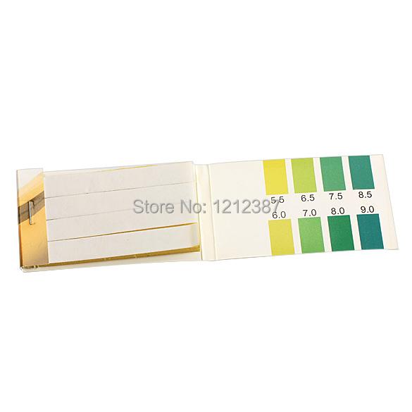 Гаджет  80 Strips PH Range 5.5-9.0 PH Alkaline Test Indicator Papers Lab Supplies ES88 H None Инструменты