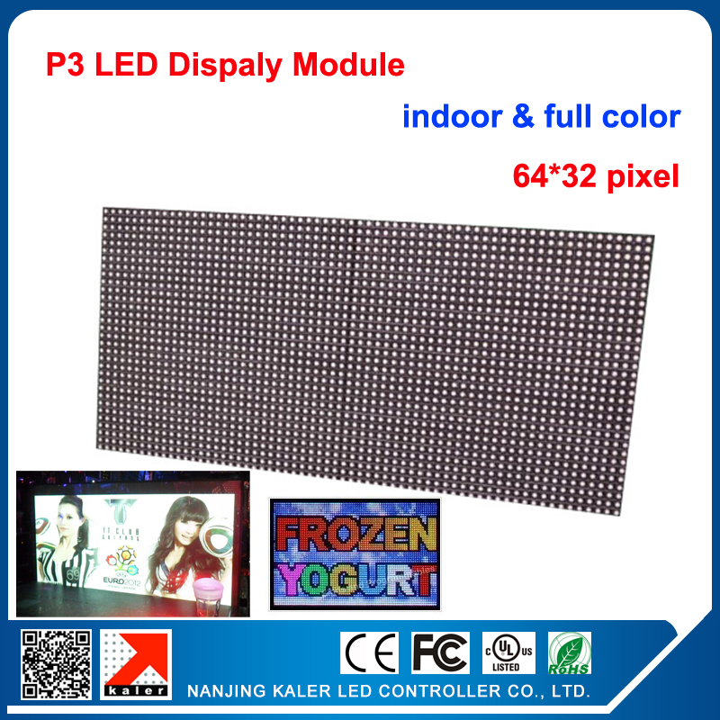 3mm Indoor SMD3528 rgb led display module,192mm x 96mm, 64*32 pixle, Video,images,picture led display led matrix p3 led module(China (Mainland))