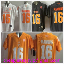 Cheap Youth Tennessee Volunteers Peyton Manning Kids Orange White Embroidery Logo Free Shipping(China (Mainland))