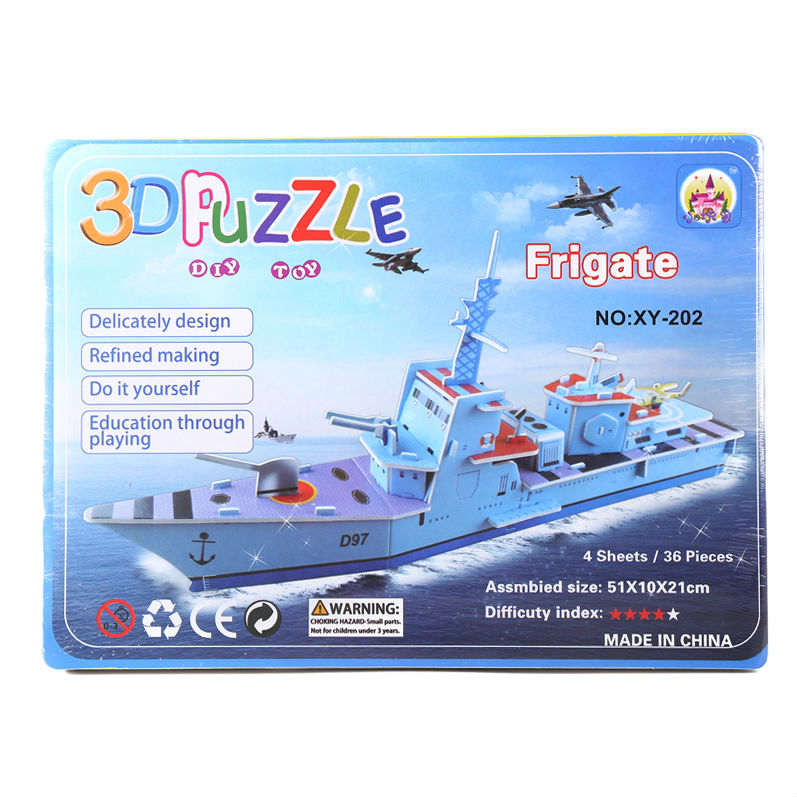3D Paper KT jigsaw puzzles for children adults Games for kids toys for children Baby toys educational Puzles Frigate 36PCS(China (Mainland))