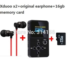 with real 16GB TF card+bass earphone,Newest XDUOO X2 HIFI MP3 digital Music Player,OLED Screen Support MP3 WMA APE FLAC WAV(China (Mainland))