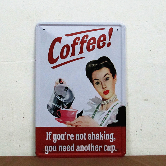 If you're not shaking you need another cup tin Signs Gift PUB Wall art Painting Poster Bar Decor C-47 Mix order 20*30 CM(China (Mainland))