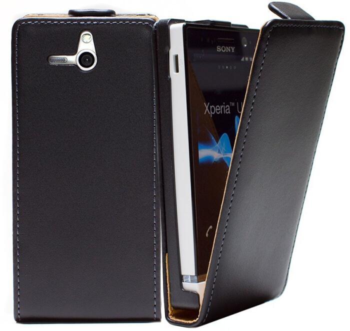 For Sony Xperia U St25i Flip Leather Case Experia U Magnetic Cover(China (Mainland))