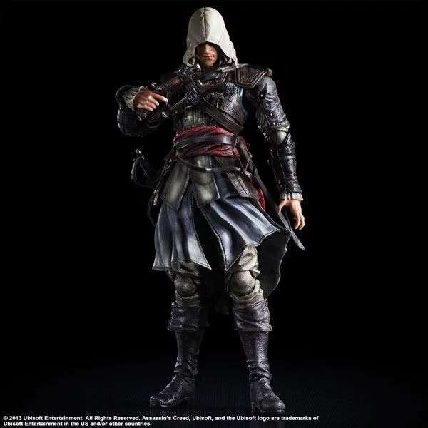 Play Arts Game Assassins Creed 4 Black Flag Edward James Kenway Movable RPG Action Figure Toys 27cm Kids Collection Model 0281(China (Mainland))