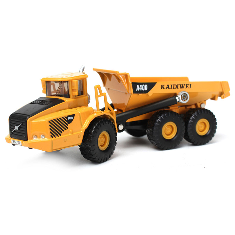 Alloy Yellow And Black KDW 1:87 Scale Diecast Dump Truck Construction Vehicle Cars Model Toys(China (Mainland))