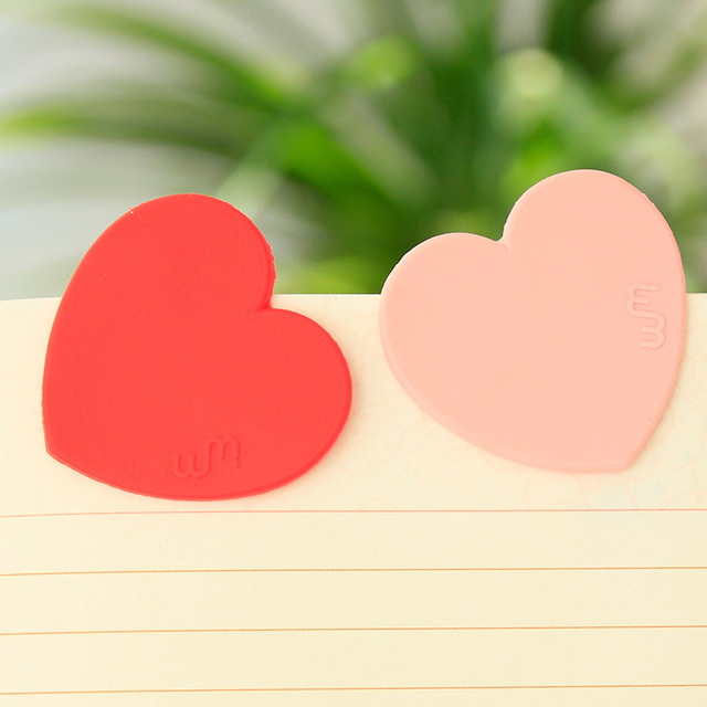 Love peach heart bookmark clip bookmark 8g