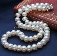 Elegant Pearl necklaces customized length natural pearl Fashion freshwater pearl necklaces AAA Handmade beads choker Gifts,multi(China (Mainland))