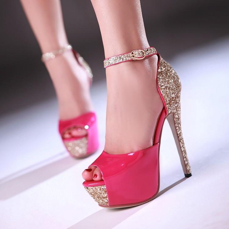 women's summer Crystal shoes High Heels Platform Shoes Pumps Women's Dress Fashion Wedding shoes lady Pump Sandals C8-152 153(China (Mainland))