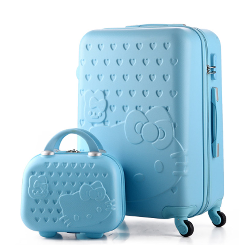 Hello Kitty Suitcase 20,24Inch Luggage Sets Rolling Luggage Hardside Luggage ABS Luggage bag Cartoon suitcase with Cosmetic case