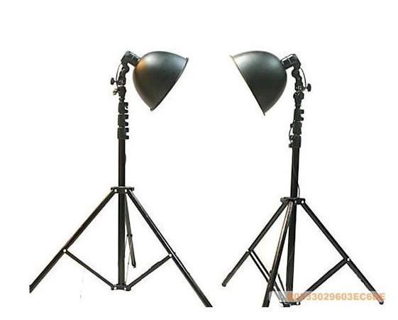 free shipping Oversized photography light set 2 27cm lamp cover 2 200cm floor lamp rack(China (Mainland))