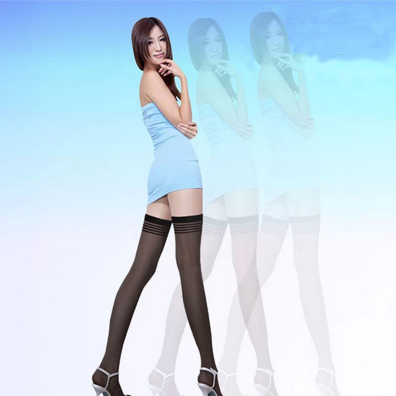 Summer 2016 New Arrival Women Over The Knee High Long Solid Color Sexy Tights Thin Stocking Pantyhose Medias One Size(China (Mainland))