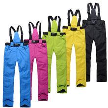 Бесплатная доставка спорта на открытом воздухе водонепроницаемый сноуборд брюки мужчины или женщины брюки зимние водонепроницаемый ветрозащитный дышащий теплые лыжные штаны
