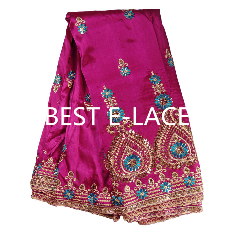 high class hole design george lace fabric indian george wrappers african raw silk george lace fabric Give 2 yards tulle lace(China (Mainland))