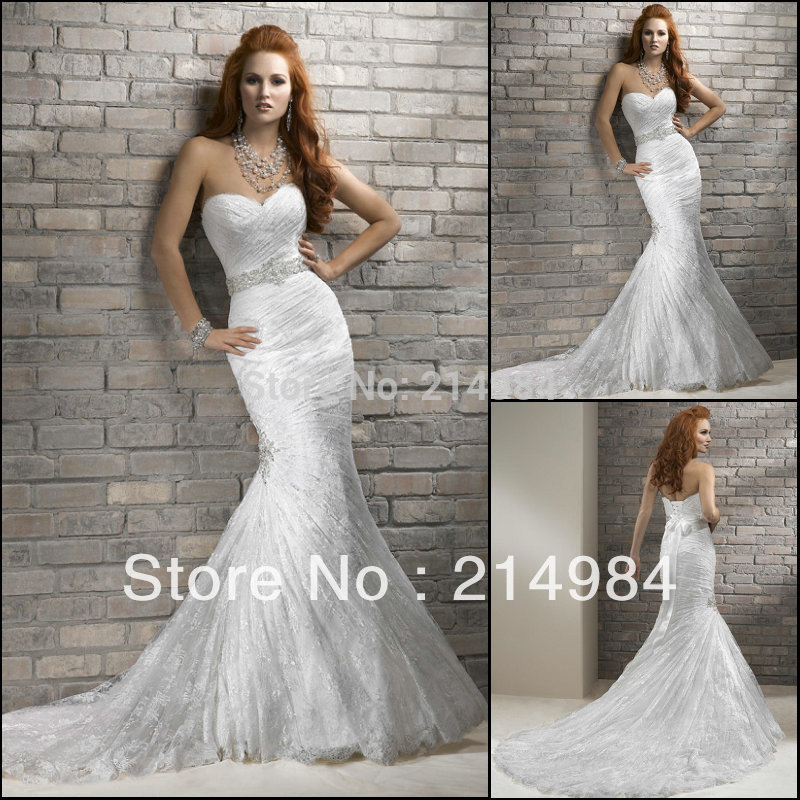 Mermaid Wedding Gown Designs : New natural sweetheart own factory make sale top