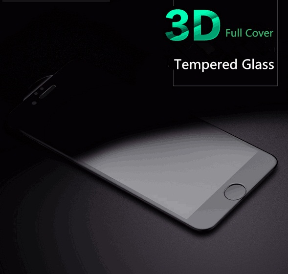 Real 3D Curved Edge Full Cover Mobile Phone Tempered Glass Front Screen Protector Protective Film for Iphone 6 6S Plus(China (Mainland))