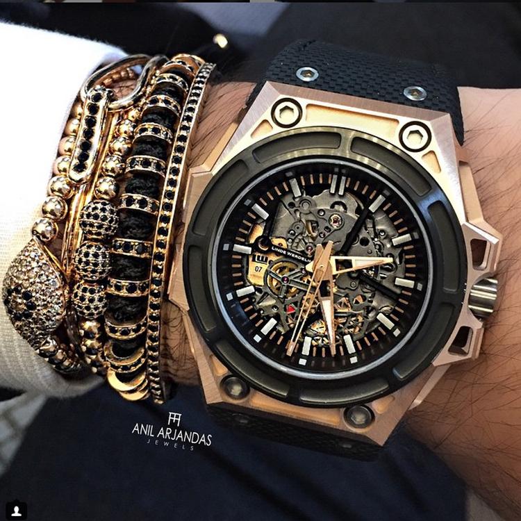 Hommes Bracelets 24 K Plaqué Or Perles Rondes et 8mm Micro Pave noir CZ Perles Trois forage balle CZ Perles Tressage Macramé Bracelet(China (Mainland))