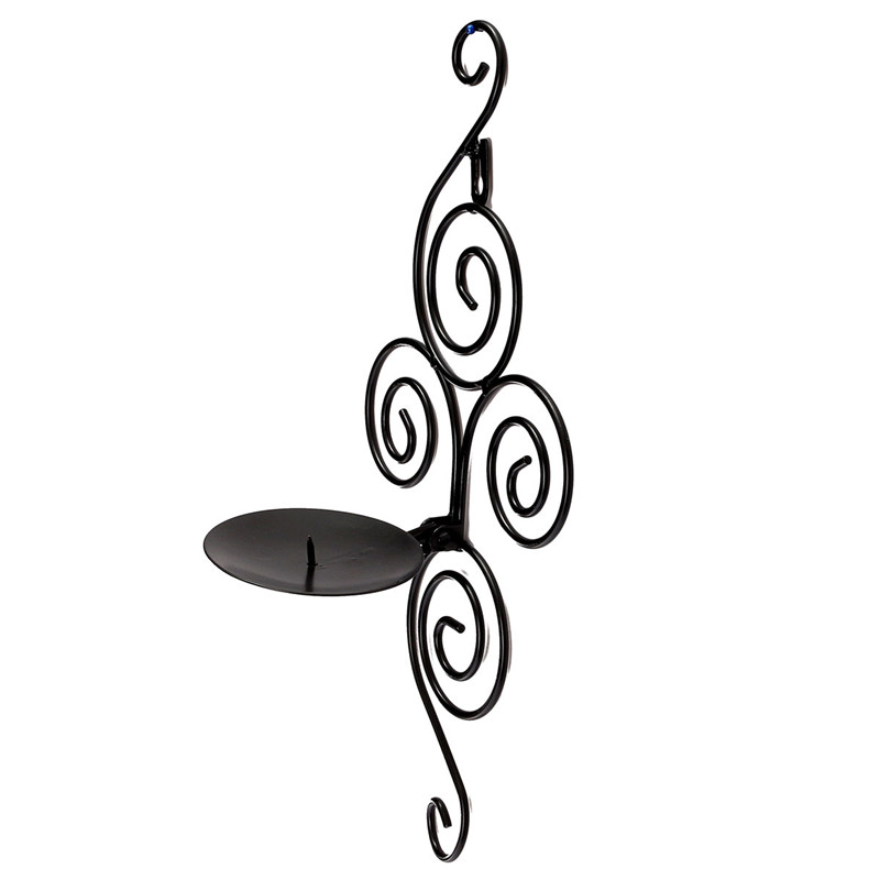 New Arrival Handmade Iron Hanging Wall Sconce Candle Holder Handmade Furnishing Articles Wonderful gift(China (Mainland))