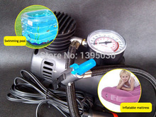 Free Shipping By DHL 40pcs Lot12V Car Auto Electric Pump Air Compressor Portable Tire Inflator 300PSI