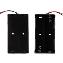 Battery Storage Case Plastic for 2 x 18650 Box Holder Black With Wire Lead hot new
