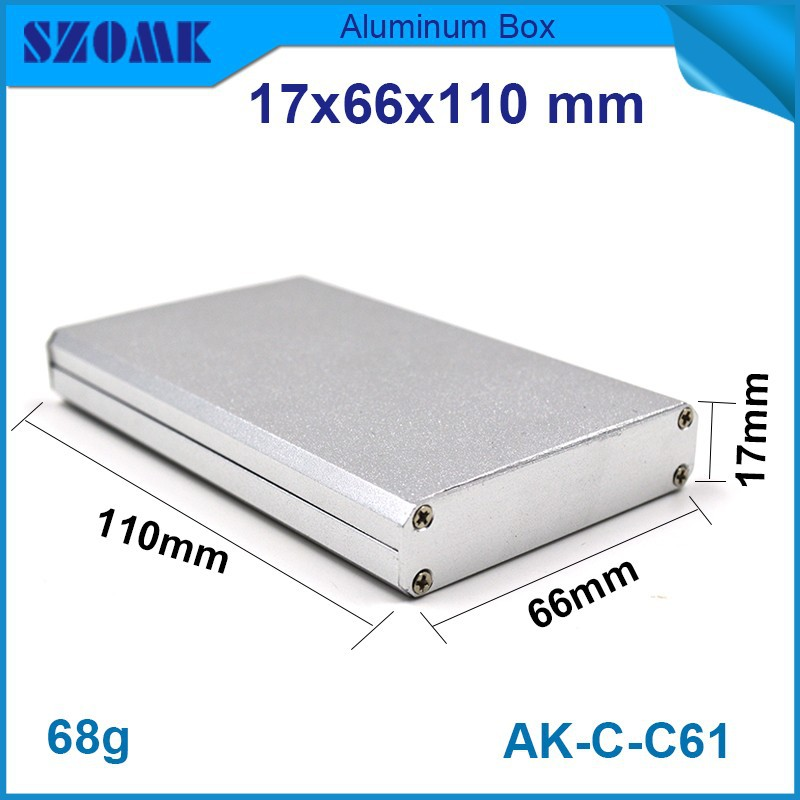 4 pcs/lot consumer electronics switch enclosure which used to industrial case in silver color anodizing and powder coating case(China (Mainland))